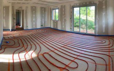 Réalisation d'un plancher chauffant pour une construction